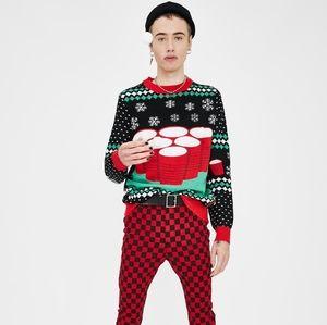 Dolls Kill Christmas Pong Game Sweater + Socks NWT